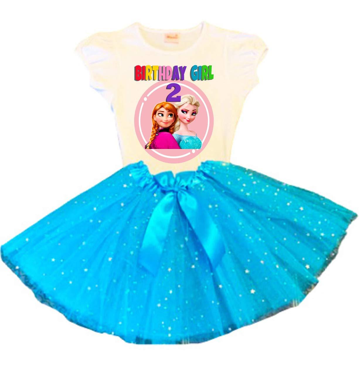 Frozen Elsa Anna Import Birthday List price Tutu Party Dress 2nd Turquo
