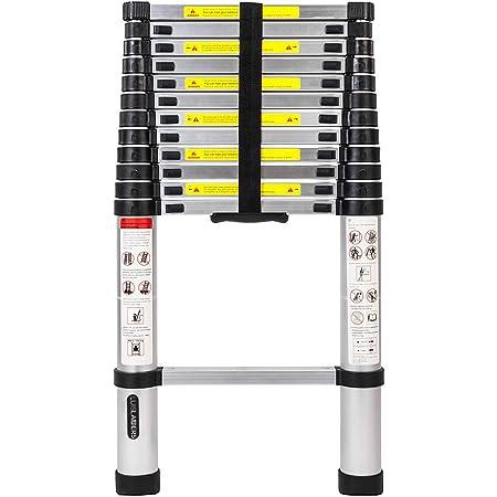 Luisladders Oshion Aluminum Telescoping Telescopic Extension Ladder 330 Pound Capacity