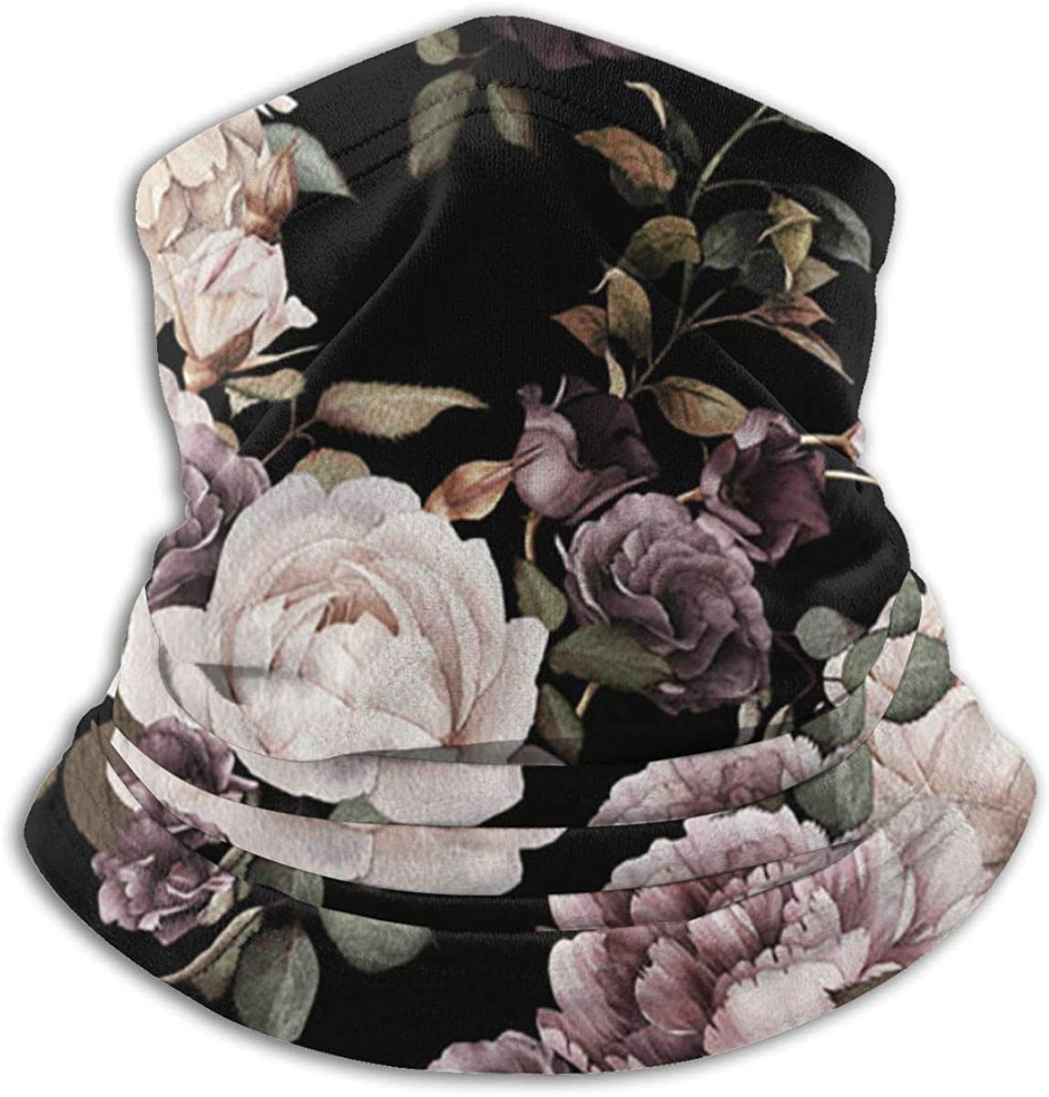 Pink Dark Floral Plain Black Multi-function Neck Warmer Gaiter Polyester Neck Warmer Windproof Winter Neck Gaiter Cold Weather Scarf For Men Women