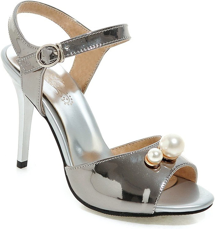 QIN&X Damen Sandalen Stiletto Heels Party Riemchen Riemchen Riemchen Schuhe  80282d