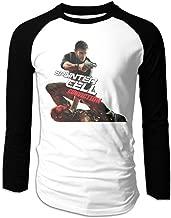 Creamfly Mens Conviction Gun Long Sleeve Raglan Baseball Tshirt