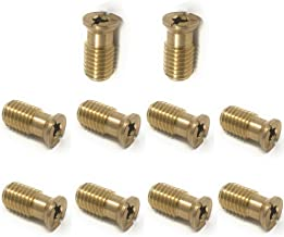 Wood Grip MB1 Pool Cover Brass Anchor Head Screw Bolt- 10 Pack
