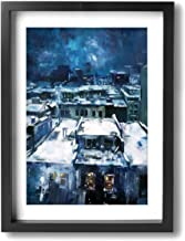 HAINANBOY Cityscape of Jeremy Mann Wall Art Painting Stretched and Framed Canvas Prints Artwork Ready to Hang for Home Living Room Bedroom 12