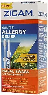 ZICAM Allergy Relief Nasal Swabs 15 Count (2 Pack)