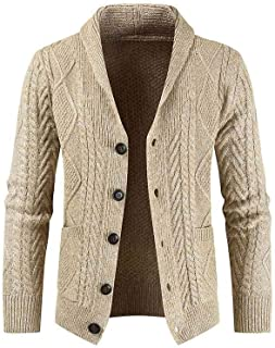 HYLLGI Men's winter knitted pullover, fashion, loose coat, pullover, cardigan, coat, pullover.