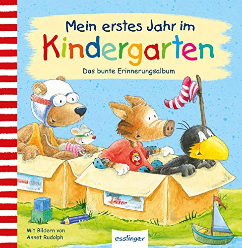 Mein erstes Jahr im Kindergarten: Das bunte Erinnerungsalbum (Der kleine Rabe Socke)