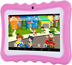 $49 » InKach Kids Tablets PC 7 inch - Android WiFi Tablet 4-Core Processor, 1G RAM, 4GB ROM Laptop Computer HD Display Dual Camera Children Gifts (Pink)