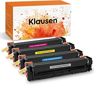 Klausen Toner Cartridge Compatible for HP 202X CF500X 202A CF500A ,for HP Laserjet Pro MFP M281fdw M254dw M281dw M254dn M254nw M281fdn M281cdw M280nw M281 M254 Printer ,KCMY