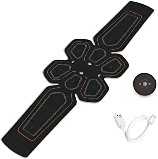 Fitness Sports Belt ABS Coach Abdominal Electrical Stimulator USB Charging Fitness Sports Home Exercise Gym Muscle Body St...