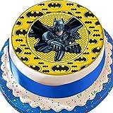 Tortenaufleger mit Batman-Logo-Umrandung, essbarer