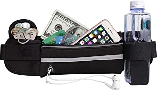 BOTINDO Running Belt Waist Pack, Water Resistant Waist Bag for Men & Women, Fanny Pack for Running, Cycling and Exercising
