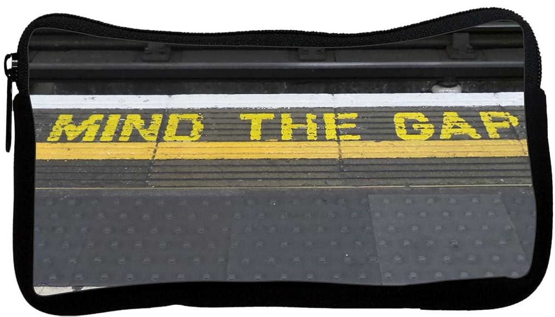 Rikki Knight? Mind the Gap on London Subway Underground Neoprene Pencil Case