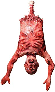 Demi Sharky Scary Halloween Dead Body Bloody Decorations Props Latex Hanging Body Corpse for Secrets Haunted House Decorations