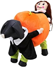 KASQA Funny Pet Dog Cat Clothes - Carrying Pumpkin Costume Fancy Puppy Apparel Jacket