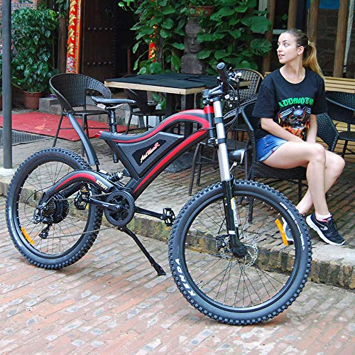 Addmotor HITHOT Electric Bicycle 500W 48V Dual Suspension Mountain Electric Bike 2019 H5 E-Bike with 26 Inch Wheel Gear for Adults