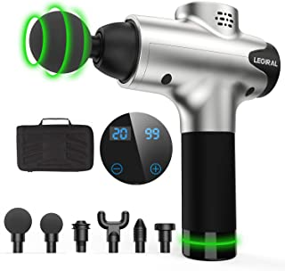 Massage Gun, Portable Body Muscle Massager 20 Speeds Handheld Percussion Massager Gun, Professional Deep Tissue Massager L...
