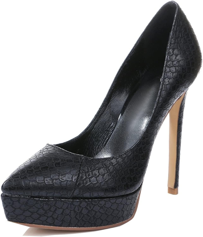 L@YC Damen Damen High Heel Plattform Spitzschuh Klassische Pumps Large Größe Party Kleid PU  wunderschönen