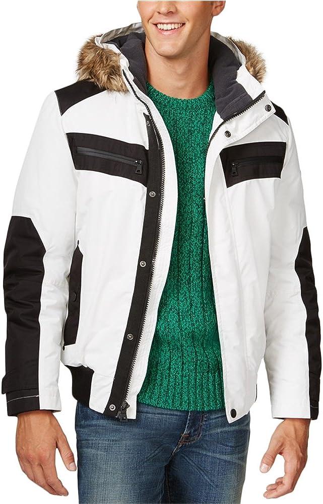 I-N-C Mens Iridescent Cire Parka Coat