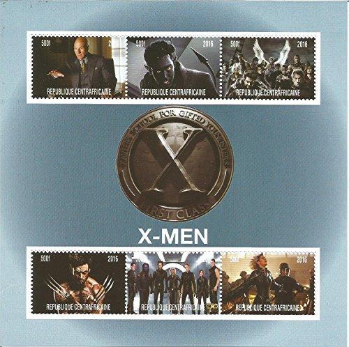 Sellos coleccionables – X-Men Marvel DC Comics Movie MNH Sello hoja 2016