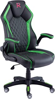 LCH Gaming Chair Racing Office Chair High Back Computer Desk Chair PU Leather Chair Executive and Ergonomic Adjustable Swivel Chair with Headrest and Lumbar Support (Green and Black)