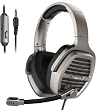 XIBERIA V21 3.5mm Silver Gaming Headset, Over-Ear Stereo Gaming Headphones with Uni-Directional Microphone for PC, Computer, Laptop, PS4, Xbox One, Nintendo Switch, Mac, iPad