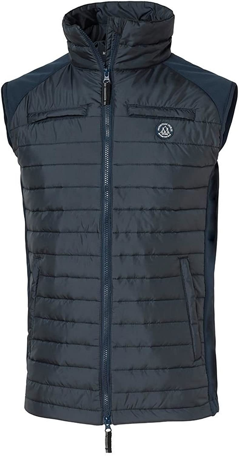 Mountain Horse Silver Hybrid Mens Padded Windproof Water Repellent Gilet Jacket