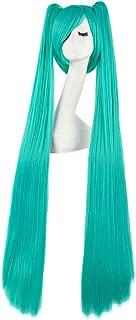 MapofBeauty 47 Inch/120cm Beautiful Long Straight Cosplay Wig (Mixed Cyan)