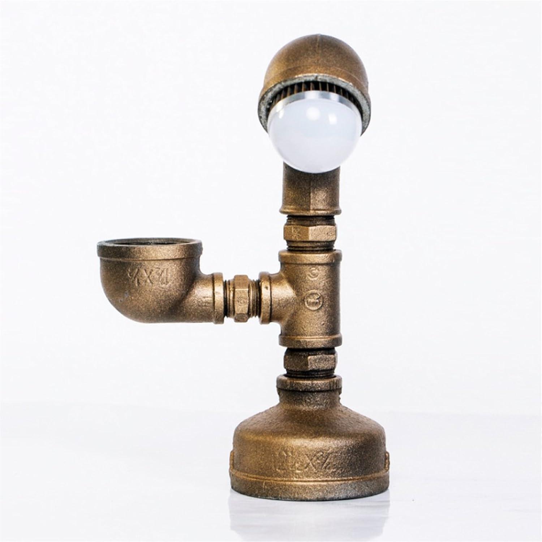Ywyun Europische Retro-Rohr-Lampen, LED mit Energie Auge, Bett bar Studie Schlafzimmer leuchtet, 24.5  22cm (Farbe   Weiß light)