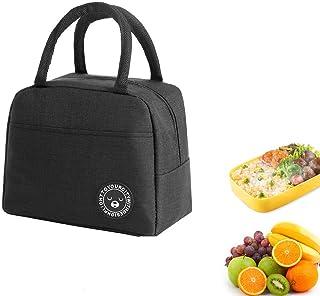 Youkii Sac Isotherme Repas,Lunch Bag Portable, Sac à Lunch Sac Thermique pour Enfants Femmes (1 Pcs-Noir (Style 2))