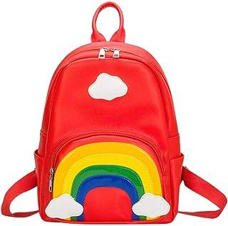 285a55db5e Rameng Sac à Dos Maternelle Cartable Fille Primaire Sacs d'ecole Enfant  Arc-en