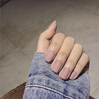 Handcess - Unghie finte quadrate opache, a forma di chiodo finte, colore puro, per donne e ragazze