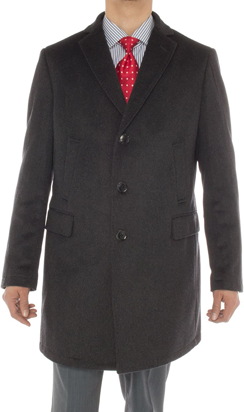 Luciano Natazzi Italian Men's Cashmere New item Coat Trench Modern Topcoa At the price