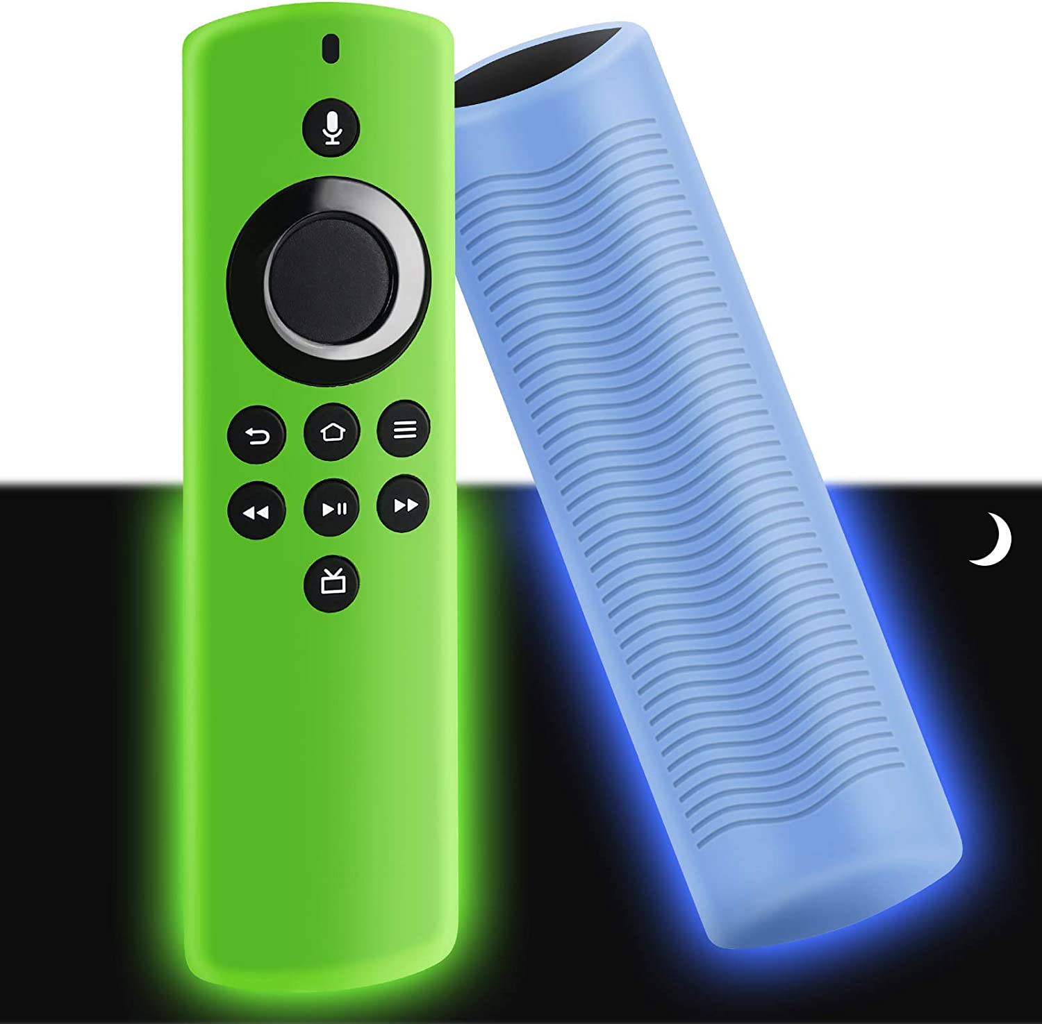 WEVOVE [2020 Release] TV Stick Lite Silicone Glow Cover, Streaming Media Device Case for TVStick Lite, Lightweight, Anti-Slip, Shockproof[2Pcs]
