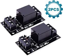 ICStation 1CH DC 3V 3.3V Relay Power Switch Module with Optocoupler High Level Trigger for ESP8266 Development Board Arduinoo (Pack of 2)