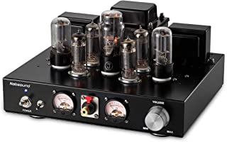 Nobsound 6P1 6.8W x 2 Vacuum Tube Power Amplifier; Stereo Class A Single-Ended Audio Amp Headphone Amplifier Handcrafted (with Headphone Amp Function)