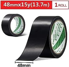 強い布テープ黒48ミリメートル* 15Y(13.7メートル)1ロールカーペットテープ防水・防食感圧性接着剤