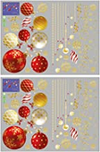 KESYOO 2pcs Christmas Window Clings Xmas Ball Wall Stickers Removable Merry Christmas Colored Stickers for Winter Home Sho...