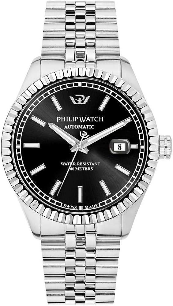 Philip watch orologio in acciaio inossidabile automatico R8223597013