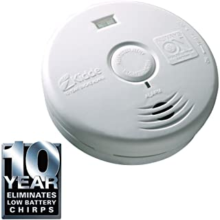 Kidde P3010H Worry Free 10-Year Hallway Sealed Lithium Battery Operated Smoke Alarm with LED Escape Light