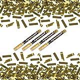 4 x goldener Konfetti Regen 60 cm Kanone Shooter Konfettibombe Partypopper Hochzeit