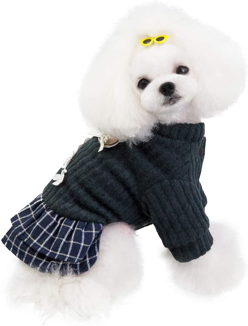 Penivo Max 50% OFF Winter Dog Coat Thick Pet Ranking integrated 1st place Jacket Smal Teddy for Skirt
