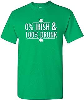Feelin Good Tees Percent Irish St. Patrick's Day Saint Irish Pats Sarcastic Funny T Shirt
