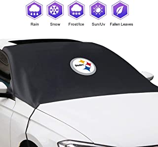 Car Windshield Snow Cover for Pittsburgh Steelers , Frost Guard Protector, Ice Cover, Car Windshield Sun Shade, Waterproof Windshield Protector for Car/Truck/SUV (for Pittsburgh Steelers)