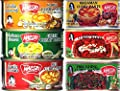 9 Can (4 oz. Each) of Thai Green, Red, Yellow, Panang, Mussaman, Prik Khing Curry Pastes Set