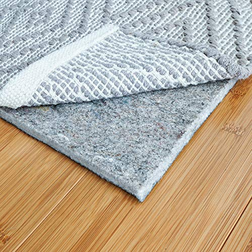 RUGPADUSA - Basics - 8'x10' - 1/4' Thick - Felt + Rubber - Protective Non-Slip Rug Pad - Cushioning Felt for Added Comfort - Safe for All Floors and Finishes - Cut to Size for a Perfect Fit