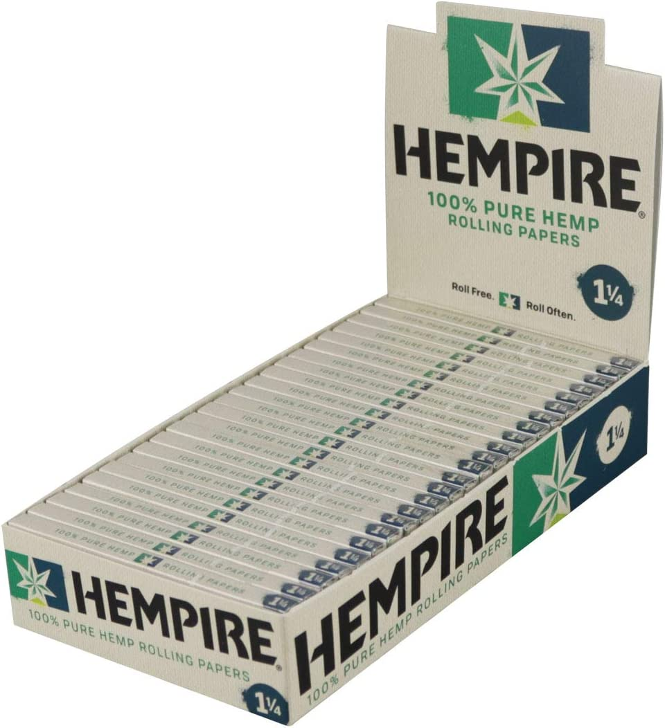 Super sale period limited 24PK Display - Hempire Hemp Max 81% OFF 1 Papers Rolling 4