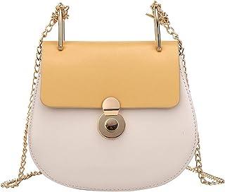 ZZZ Shoulder Bag Women's Bag Fashion Hit Color Chain Piggy Bag Korean Version Ins Wild Messenger fashion (Color : Yellow)
