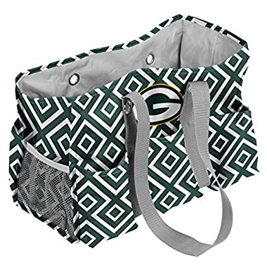 Logo Brands NFL Green Bay Packers Quatrefoil Junior Caddy, One Size, Hunter