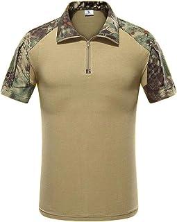 Men's Outdoor Military Tactical Combat Short Sleeve Camouflage Shirt