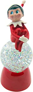 Elf on the Shelf Christmas Color Changing Snow Globe by Roman